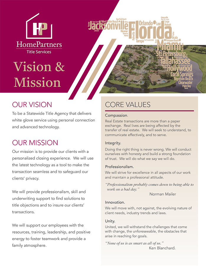 Home Partners Mission & Vision Statement